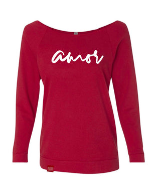 Amor- Off the Shoulder Slouch Sweater