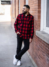 Load image into Gallery viewer, Red/Black Buffalo-Long Sleeve Flannel Shirt