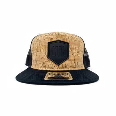 CTR Logo- Cork on Black Snapback