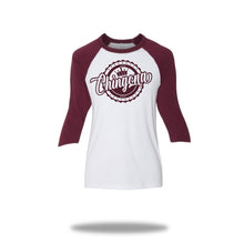 "Load image into Gallery viewer, Vintage  Maroon""Chingona"" Baseball T-Shirt"