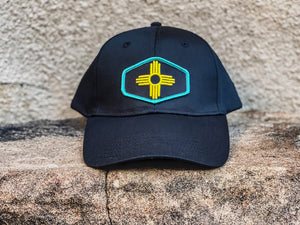 Unisex Chino Cap with our 3D Embroidered Zia Patch