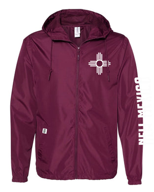 Maroon-Water Resistant Lightweight Windbreaker