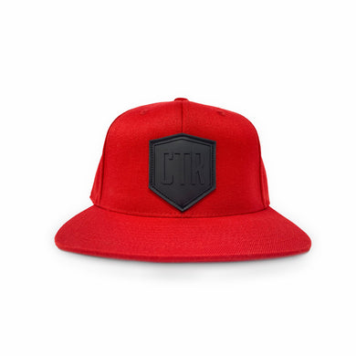 CTR Logo- Red Flexfit Snapback