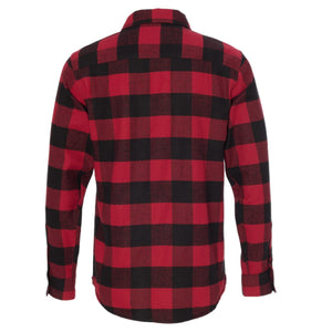 Red/Black Buffalo-Long Sleeve Flannel Shirt