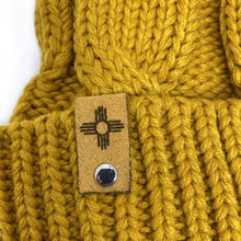 Load image into Gallery viewer, Wheat-Chunk Twist Knit Beanie with Zia Symbol