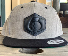 Load image into Gallery viewer, Grey & Black Leather 505 Logo