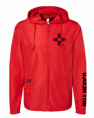 Red New Mexico Born & Raised -Water Resistant Lightweight Windbreaker