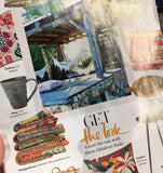 Kantha Throws by Rebecca's Aix Home featured in Red Magazine June 2018