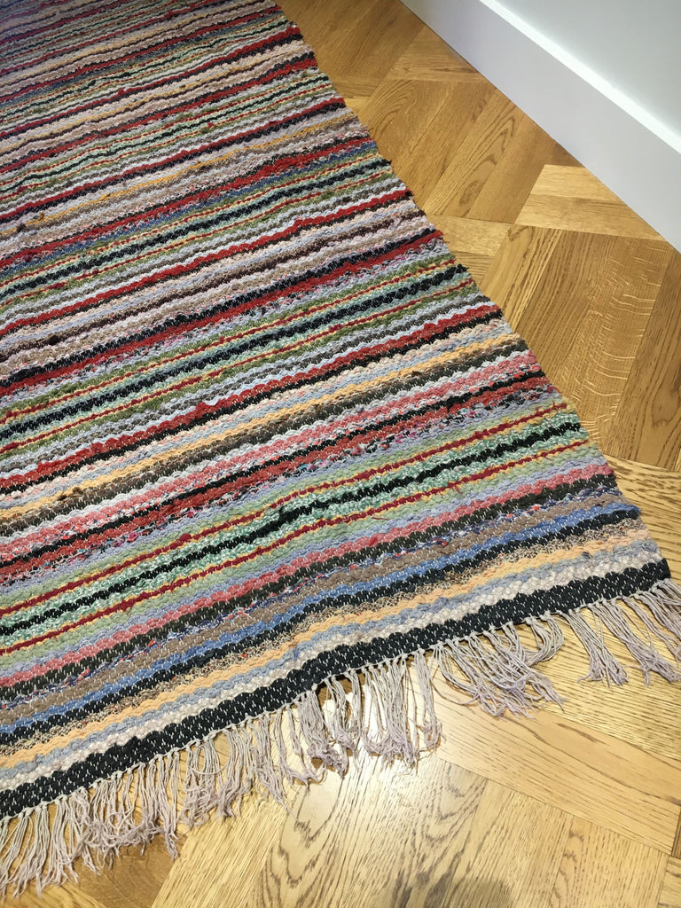 vintage swedish trasmatta rug runner hall carpet entry way mat striped hygge country home