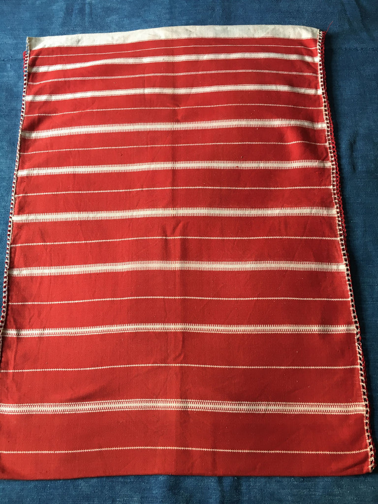 red white striped pillow cushion cover floor mat bath mat hand loomed Rebecca's Aix Home