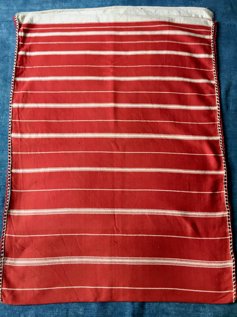 red white striped pillow cushion cover floor mat bath mat hand loomed machine washable