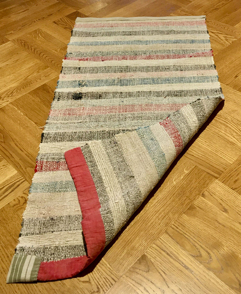 cotton swedish hygge living rustic floor mat rug runner hungarian rips cotton striped pastel