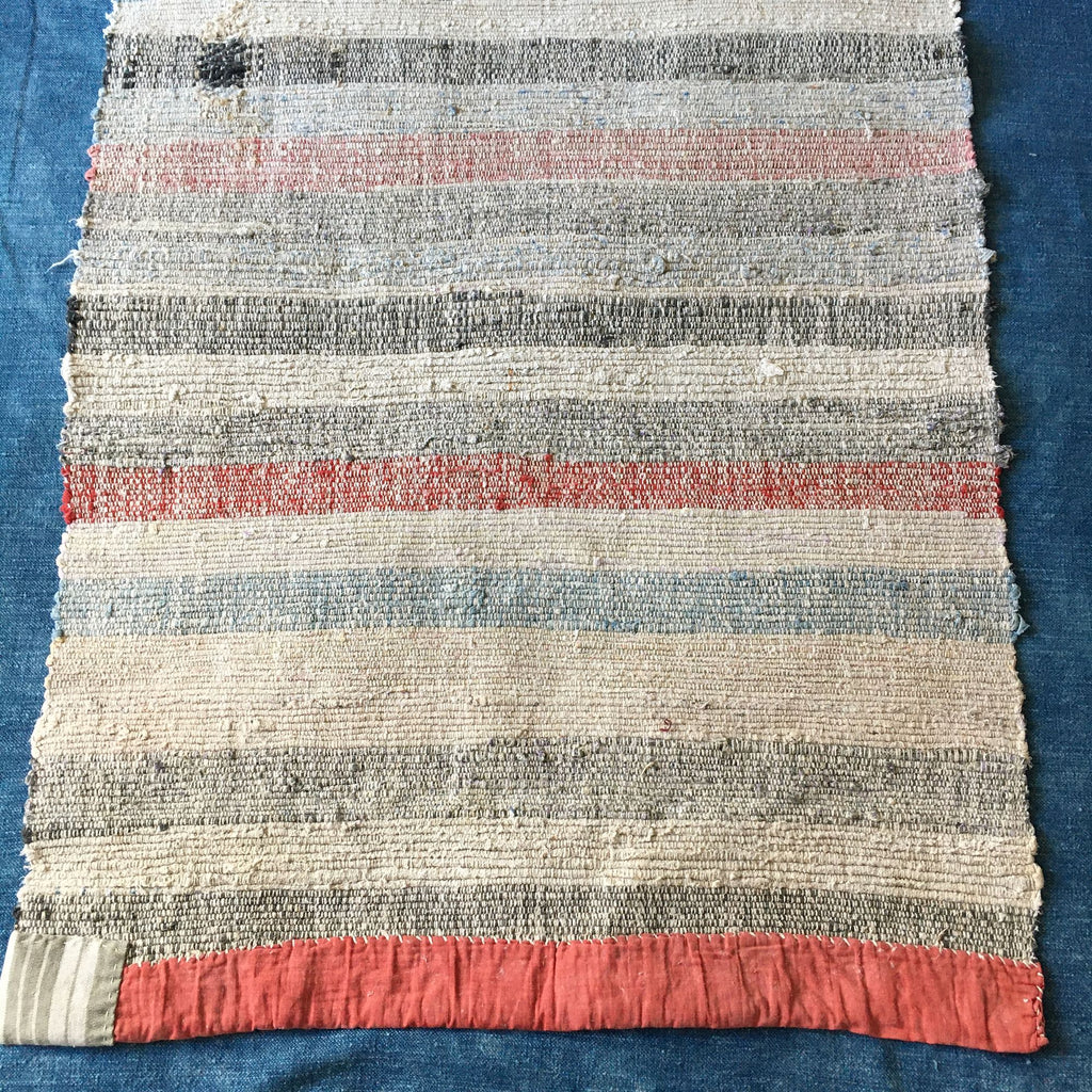 rustic floor mat rug runner hungarian rips cotton striped pastel machine washable reversible carpet