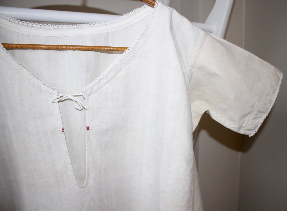Antique French linen chemise