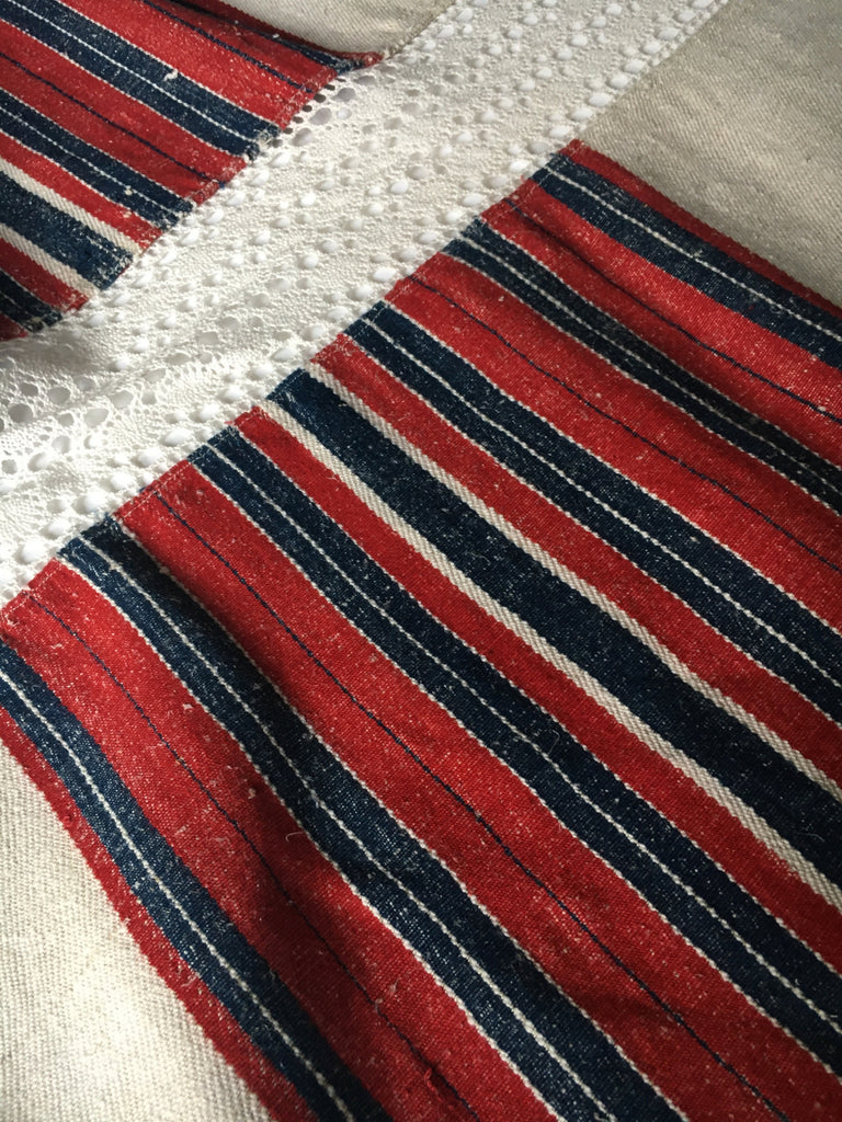 large throw vintage home loomed fabric by Rebecca's Aix Home