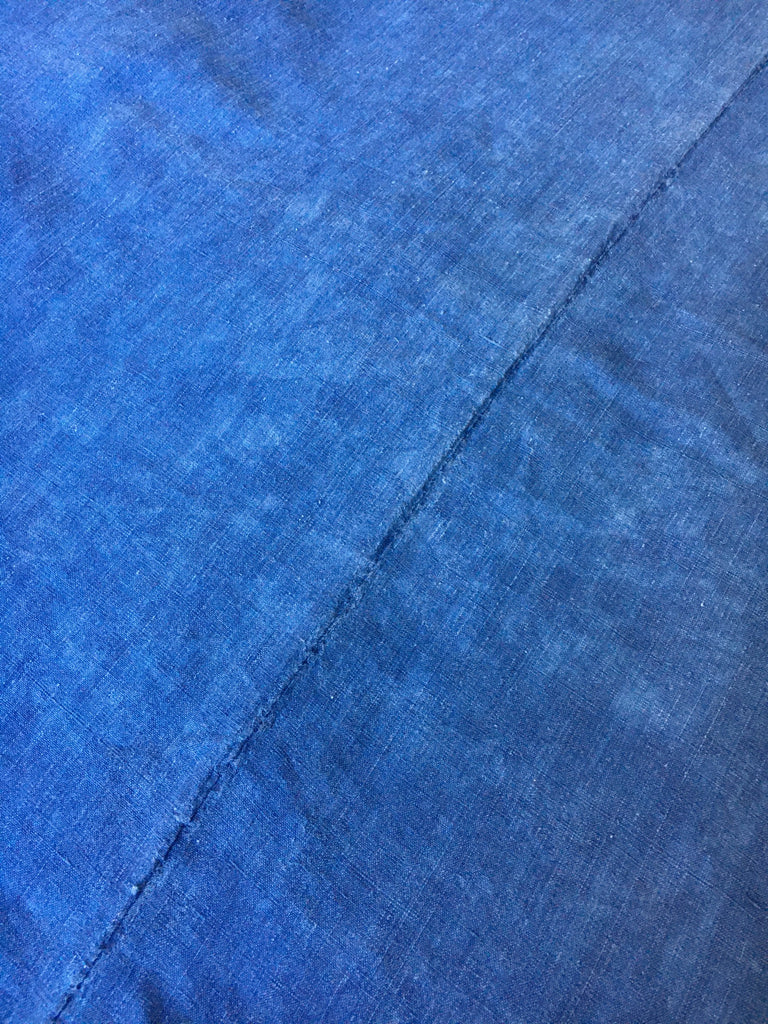 antique french indigo blue linen for tablecloth or use as sewing fabric