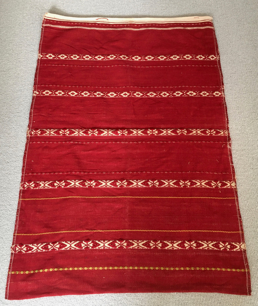 red and white vintage hand loomed pillow cover upholstery fabric floor mat