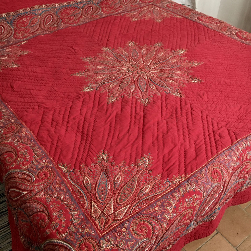 star of provence  french provencal paisley red comforter