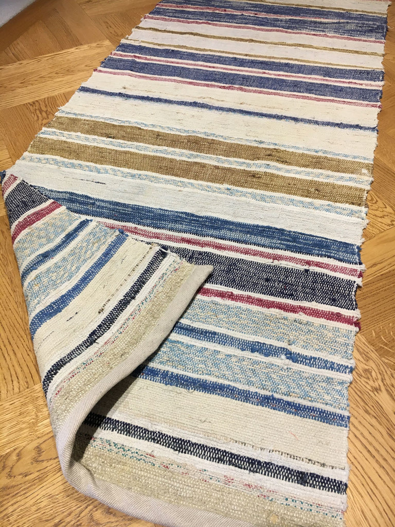 Vintage Hungarian Floor Runner. Striped 3.9m Long