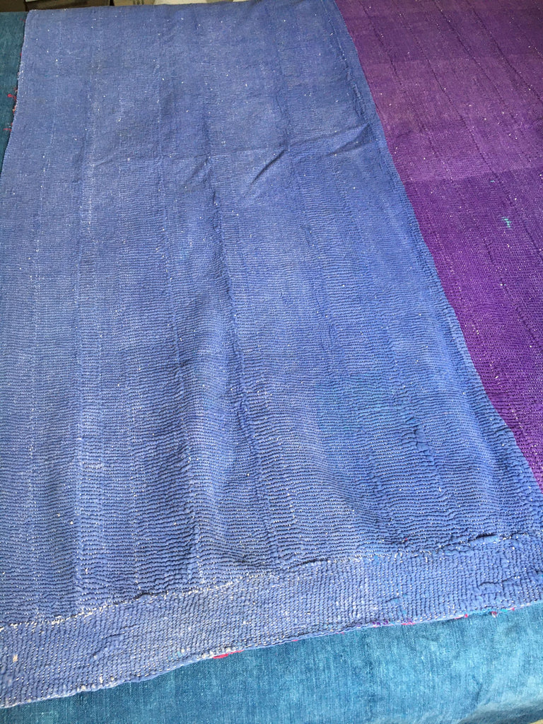 pink blue and orange patchwork kantha throw cotton machine washable machine washable