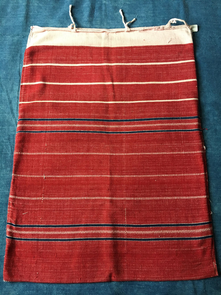 vintage hand loomed textiles red and white stripes cushon cover upholstery by Rebecca's Aix Home