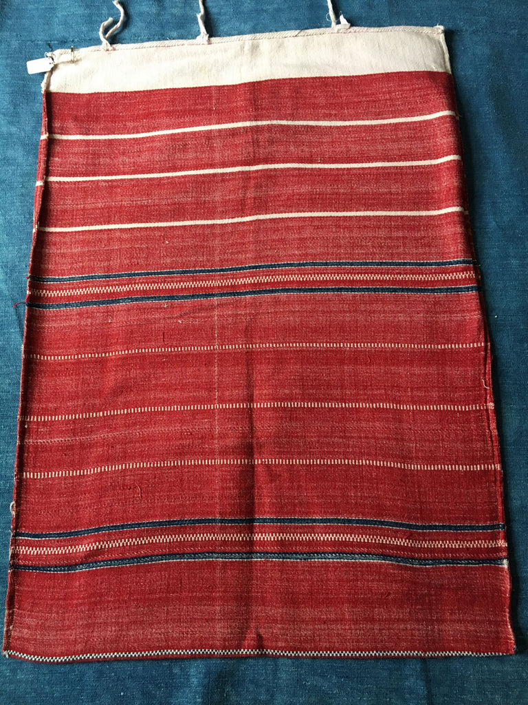 vintage hand loomed textiles red and white stripes cushon cover upholstery fabric floor mat
