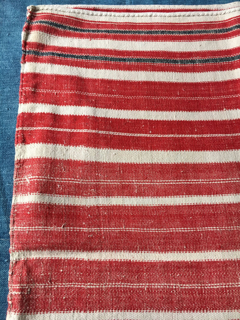 floor cushion cover red white stripes vintage hand loomed textiles floor mat bath upholstery fabric