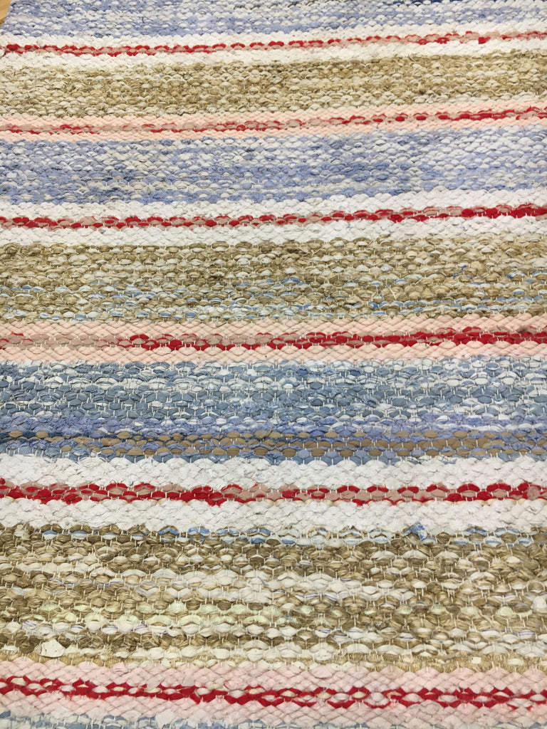 striped vintage swedish rug runner carpet bedside rug bathroom mat grey blue red pink red