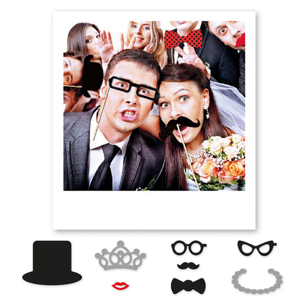 81230 8 Maxi Photo Booth Accessori per Foto spiritose - casa-del-biglietto