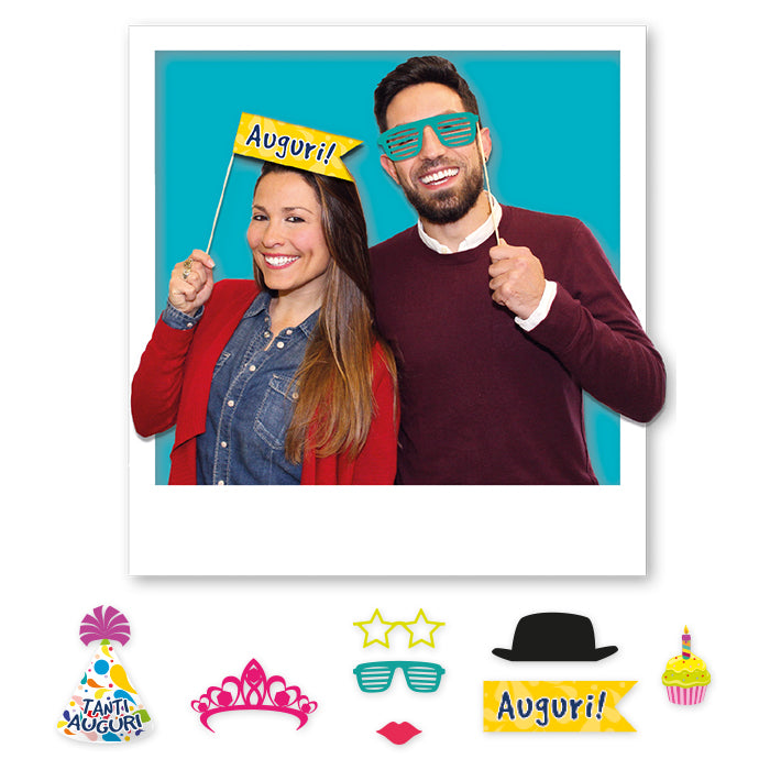 81462 8 Maxi Photo Booth Accessori per Foto spiritose - casa-del-biglietto