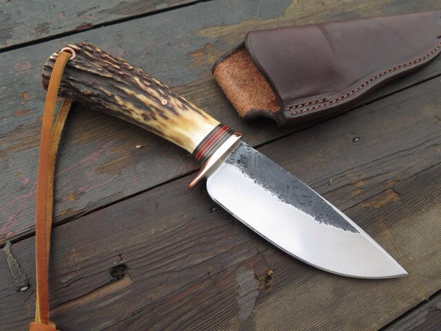 Premium Stag & Copper Drop Point