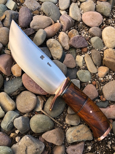 Premium Two-Piece Ironwood and Copper Camp Knife