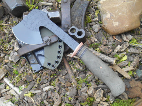 Green Micarta Pack Hatchet