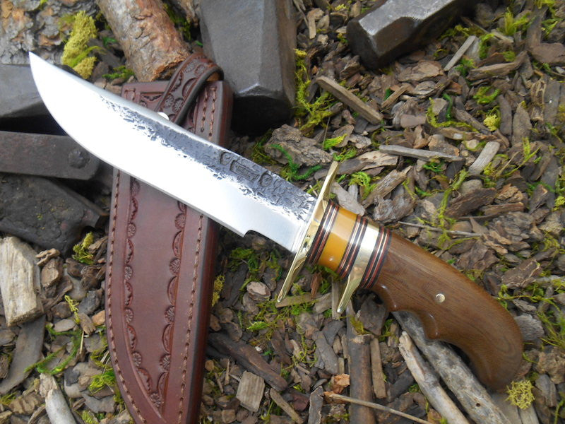 Brown Micarta Finger Grip Fighter
