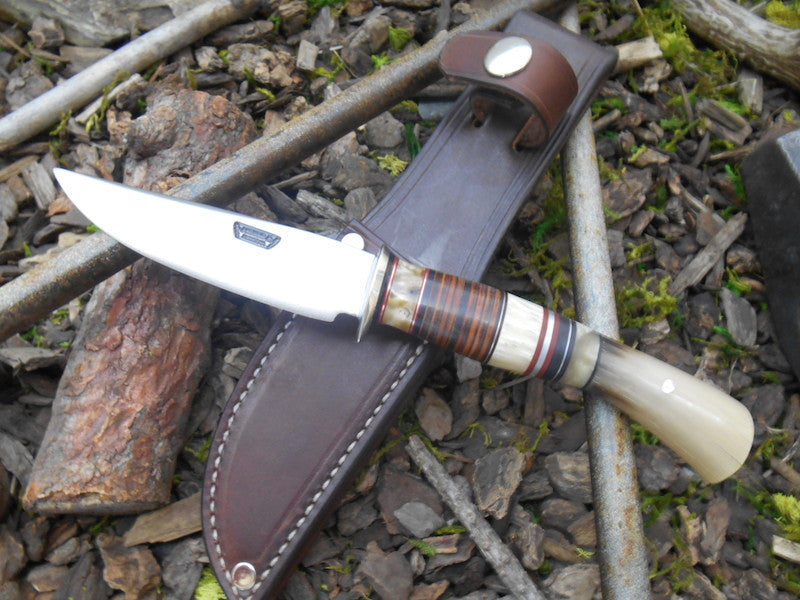 Stainless Musk Ox and Horsehide Trout & Bird