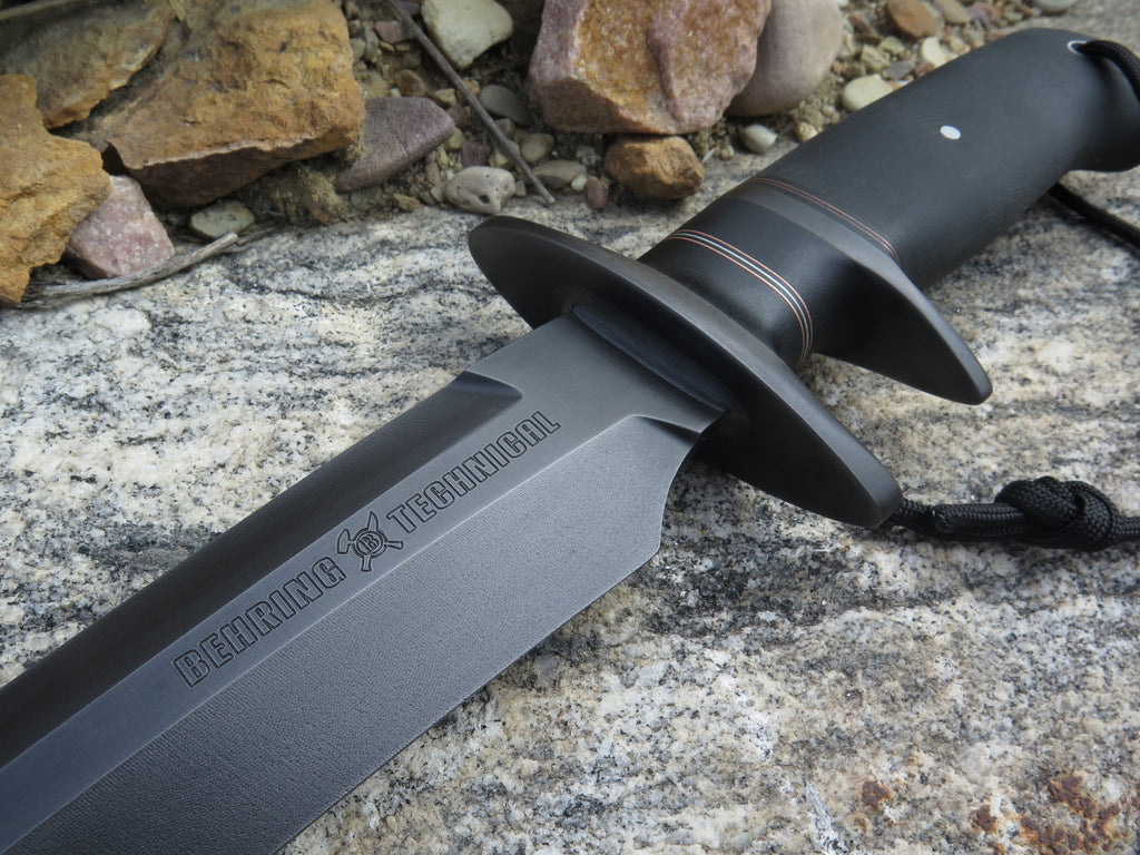 Black Micarta Custom Shop Bushido