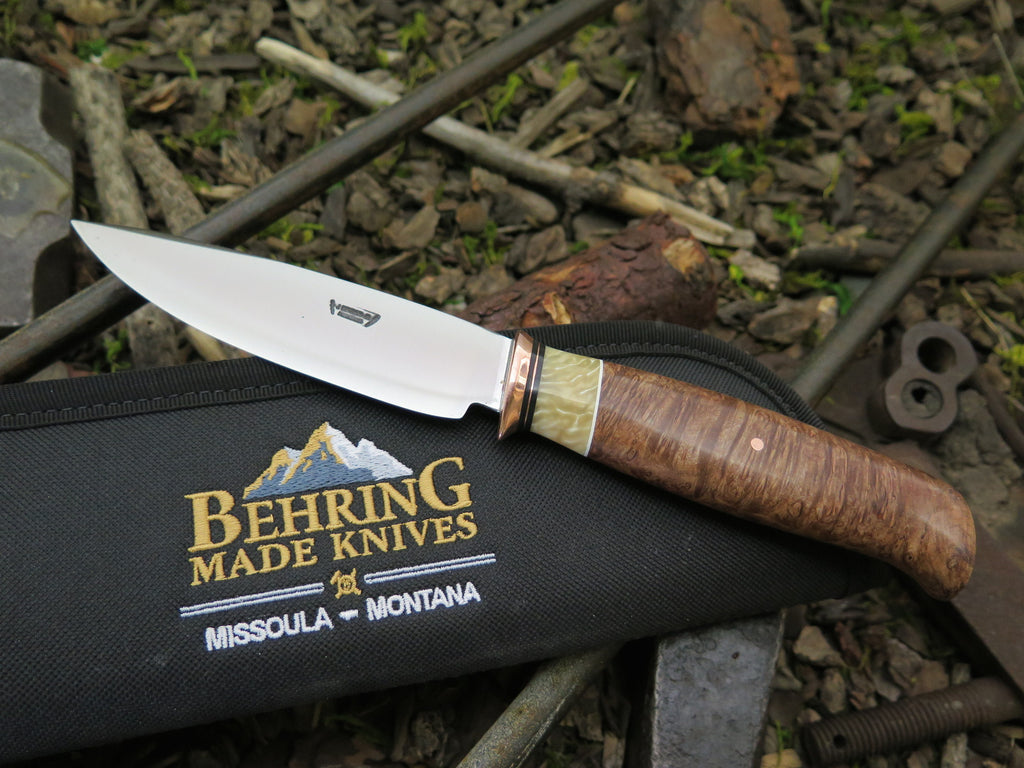 Oregon Maple Burl & Ox Kitchen Utility Knife