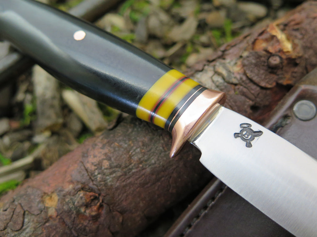 Black and Yellow Micarta Trout & Bird