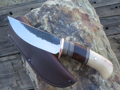 Musk Ox Horn and Horsehide Hunter