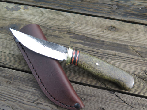 Green Canvas Micarta Pintail