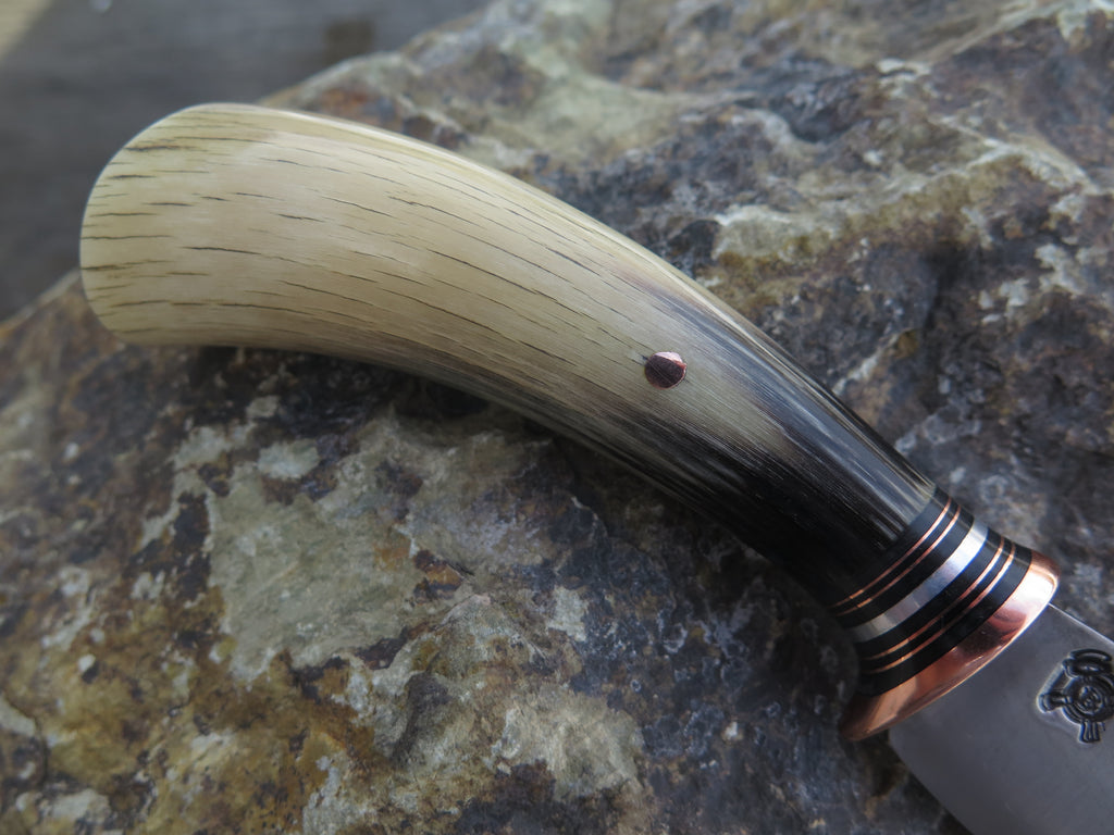 Premium Musk Ox Carver Trout & Bird
