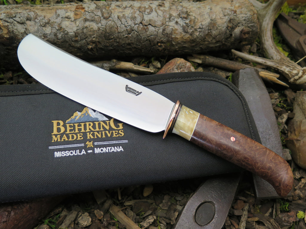 Oregon Maple Burl & Ox Vegetable Cleaver