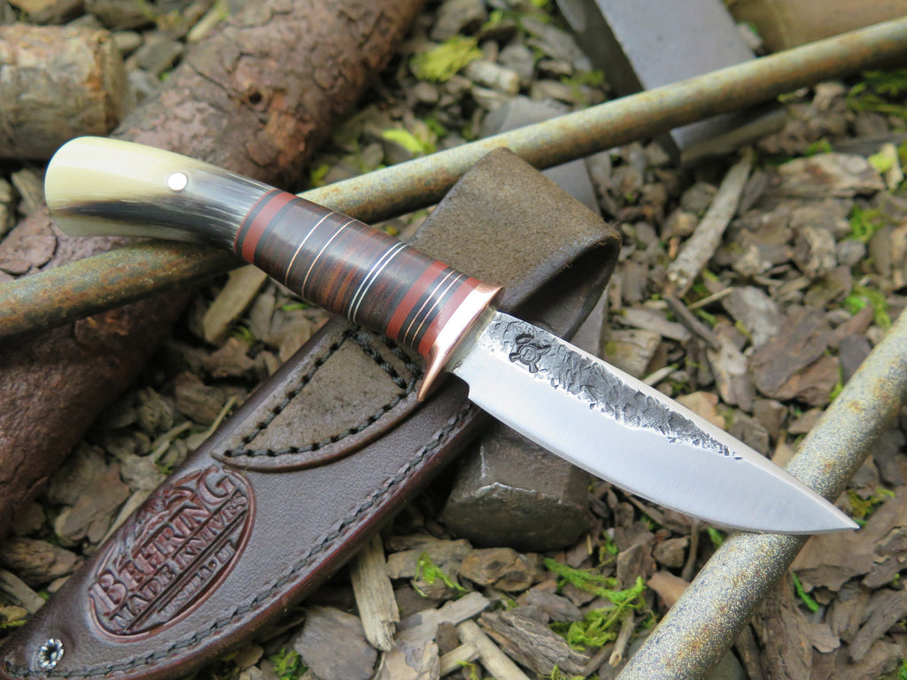 Musk Ox Carver & Horsehide Drop Point