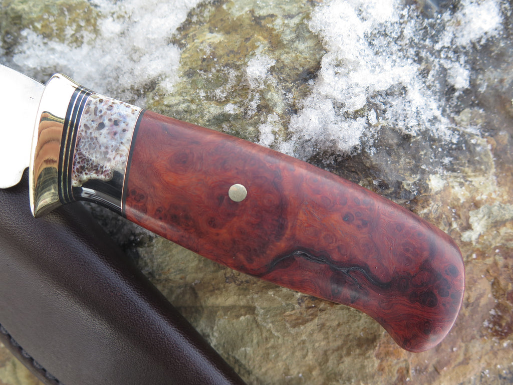 Premium Amboyna Burl and Giraffe Bone Sharptail