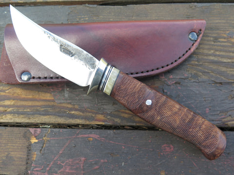 Checkered Oregon Maple Burl and Ox Sharptail