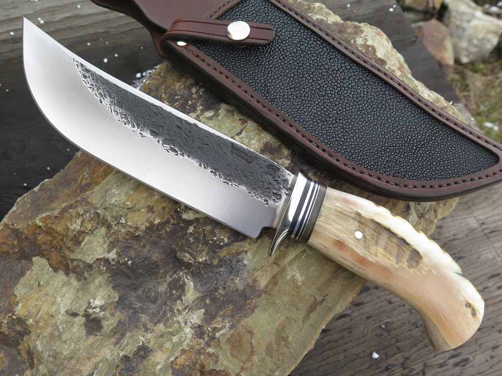 Dall's Sheep Horn Camp Knife w/ Stingray Inlay