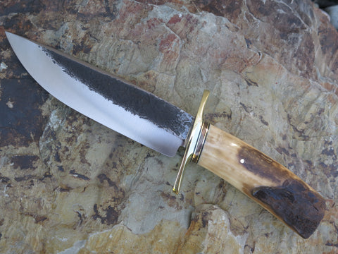 Artifact Walrus Ivory Drop Point Camp Knife
