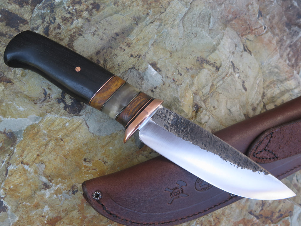 Ebony, Osage and Sheep Horn Drop Point