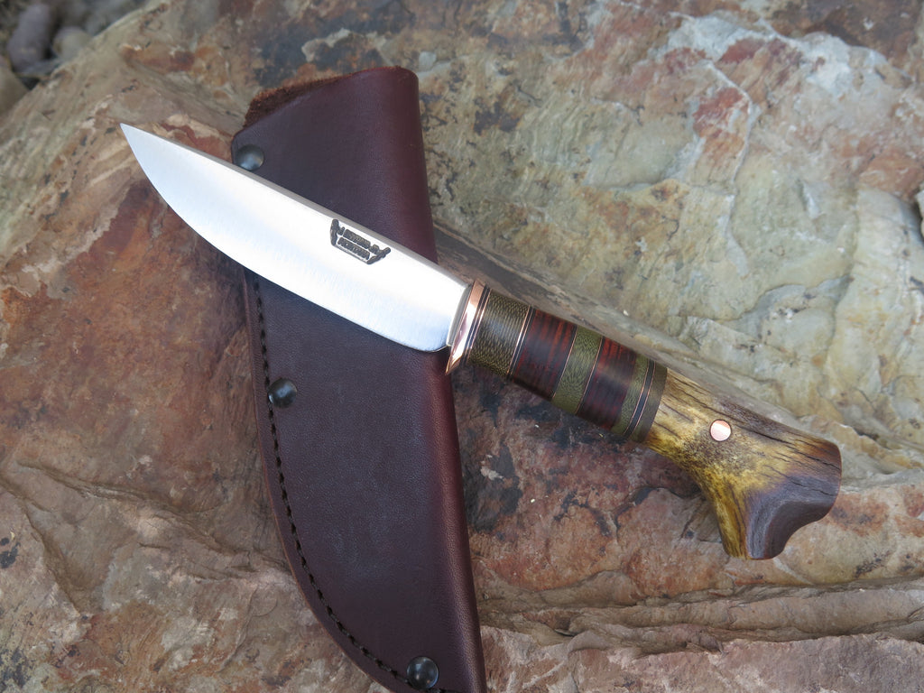 Crotch Stag and Horsehide Drop Point