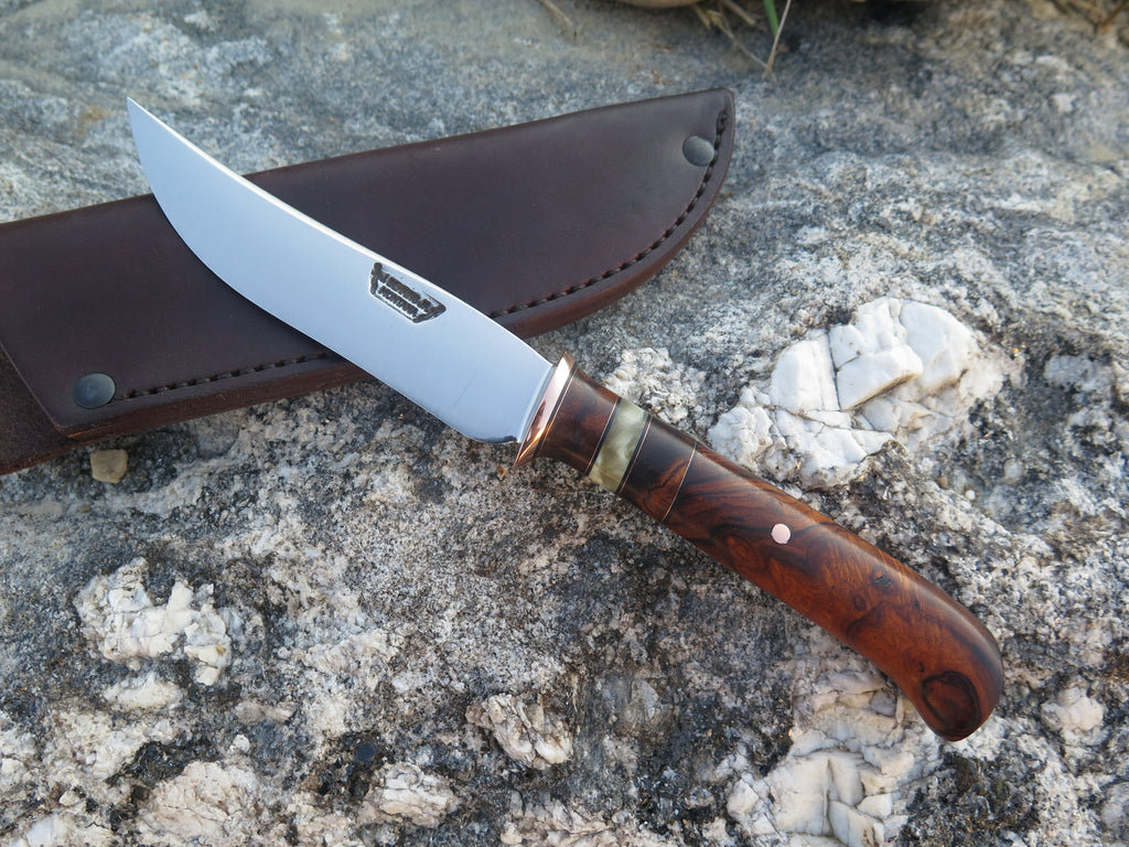 Ironwood and Musk Ox Boss Recurve Trout and Bird